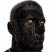 6602290-abstract-3d-illustration-of-cyborg-head-over-white-background
